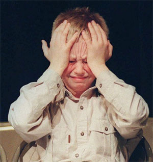 grumpy kid after school